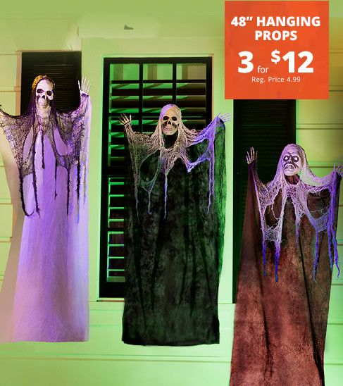 48in Scary Hanging Props (3 for $12)