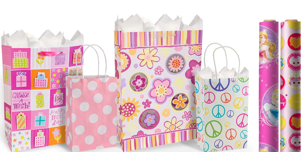 Girls Birthday Gift Bags and Wrap