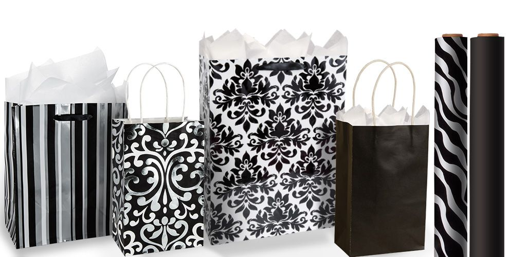 Black Gift Bags and Wrap