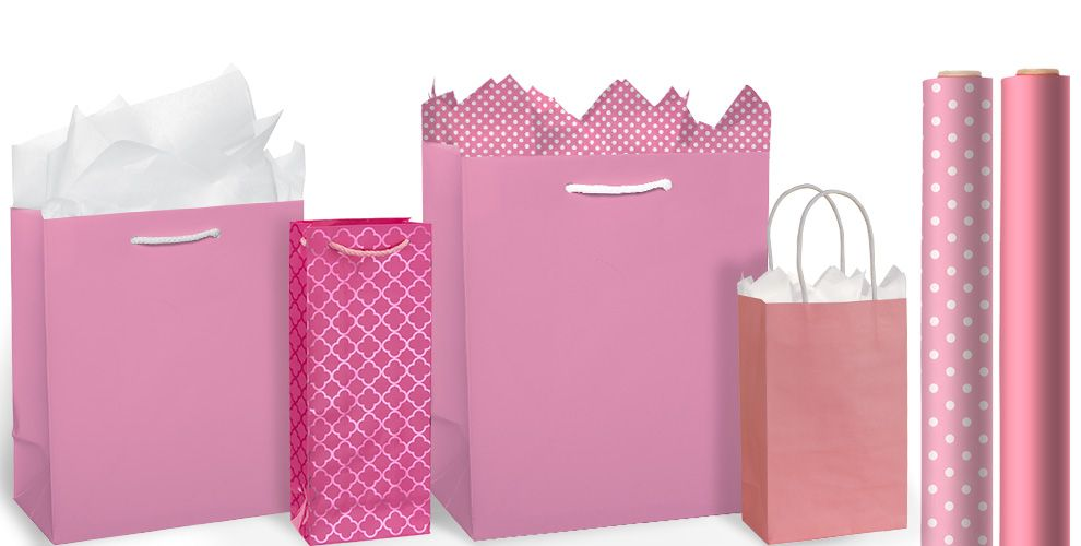 Pink Gift Bags and Wrap