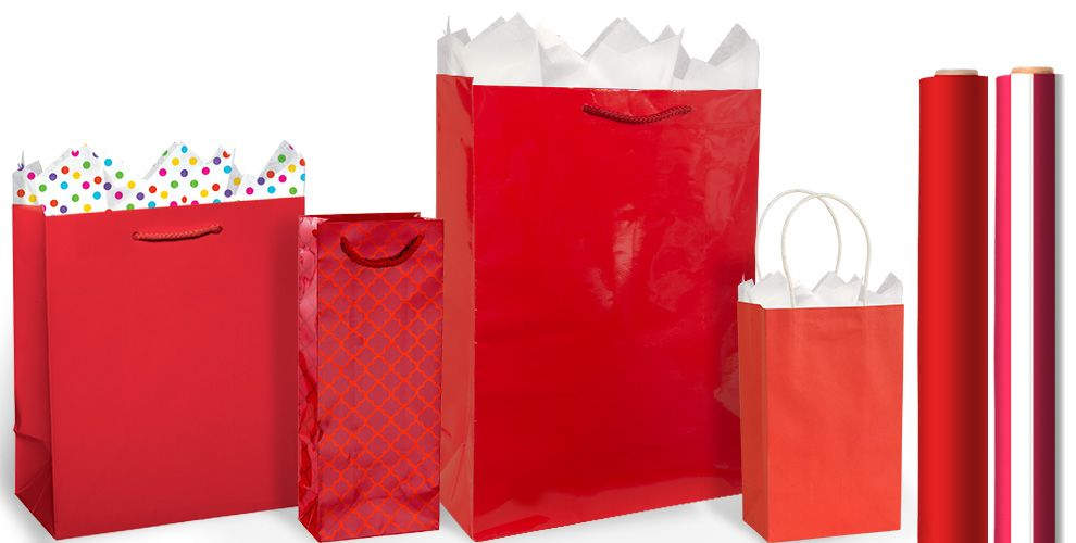 Red Gift Bags and Wrap