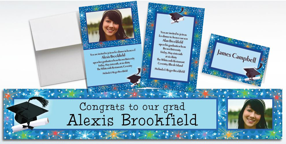 Custom Dazzling Grad Invitations and Thank You Notes