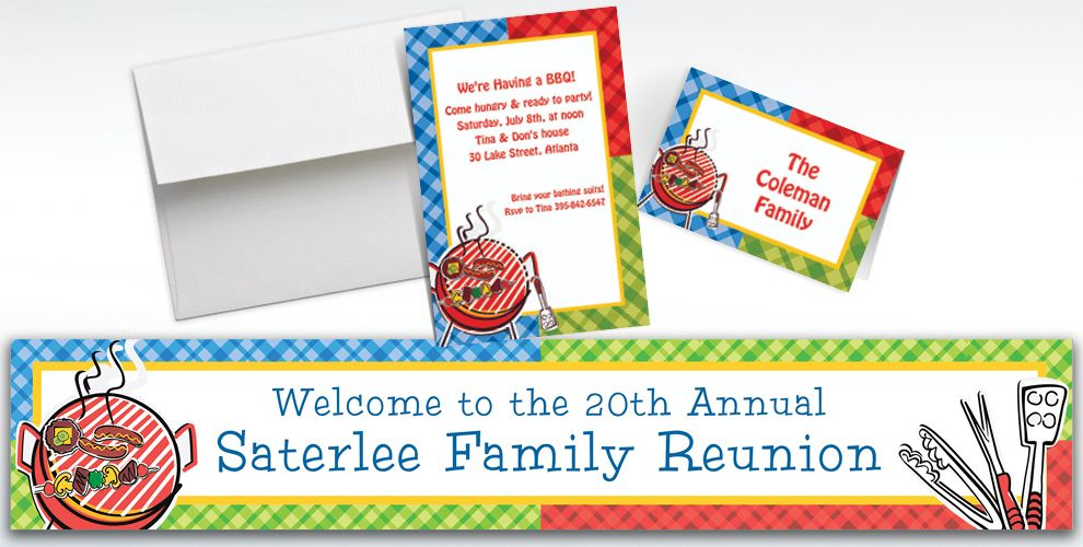 Custom Backyard BBQ Invitations and Thank You Notes