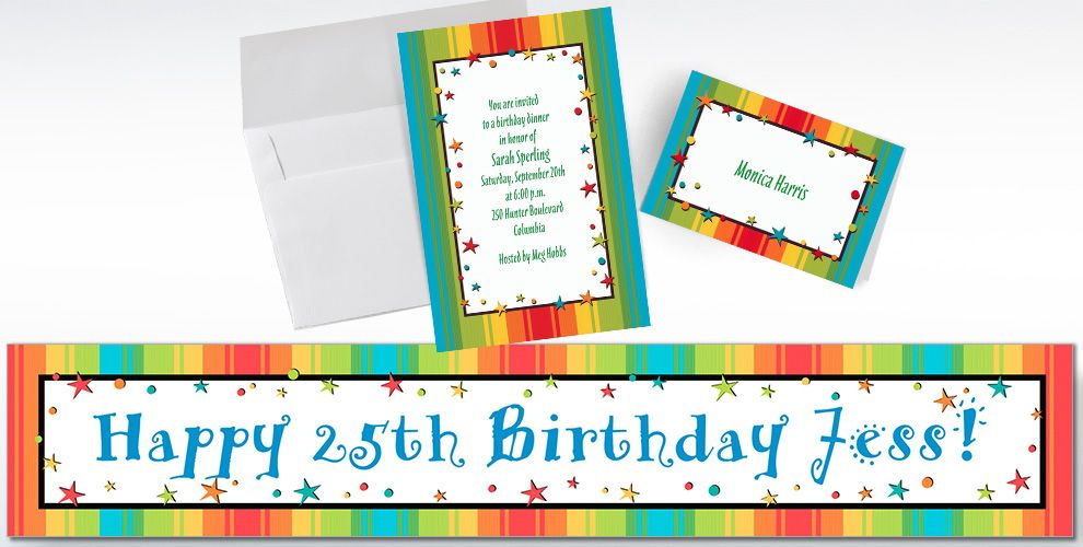 Custom A Year to Celebrate Invitations and Thank You Notes