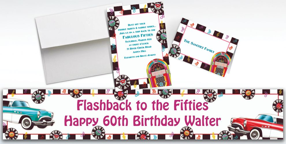 Custom Sock Hop Invitations and Thank You Notes