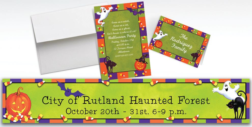 Custom Scary Fun Halloween Invitations and Thank You Notes