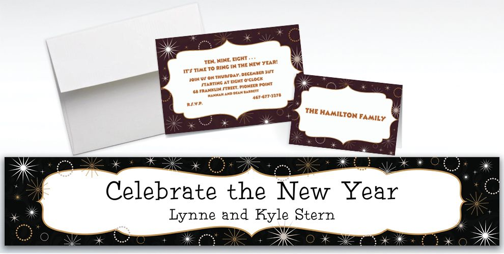 Custom New Year's Gala Invitations and Thank You Notes