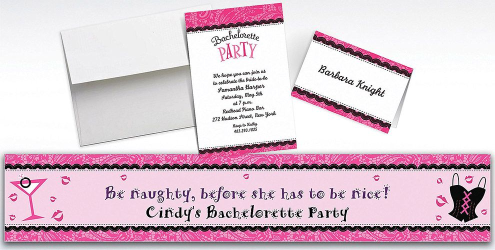 Custom Bachelorette Party Invitations and Thank You Notes