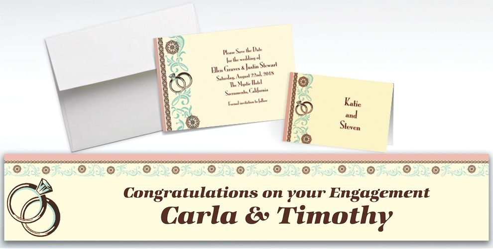 Custom Bridal Shower Day Invitations and Thank You Notes