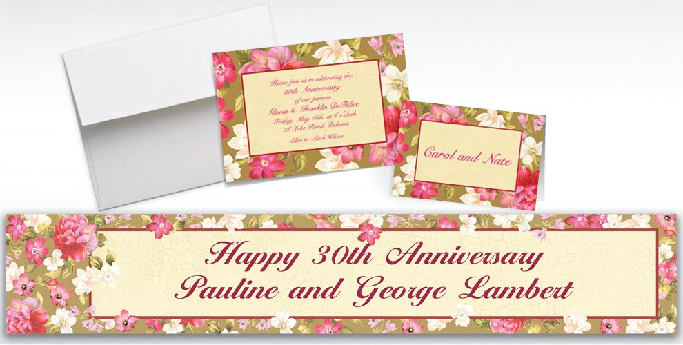 Custom Elegant Bouquet Invitations and Thank You Notes