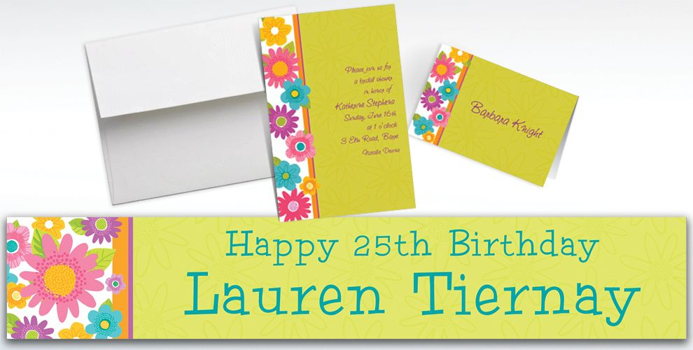 Custom Spring Fling Invitations and Thank You Notes