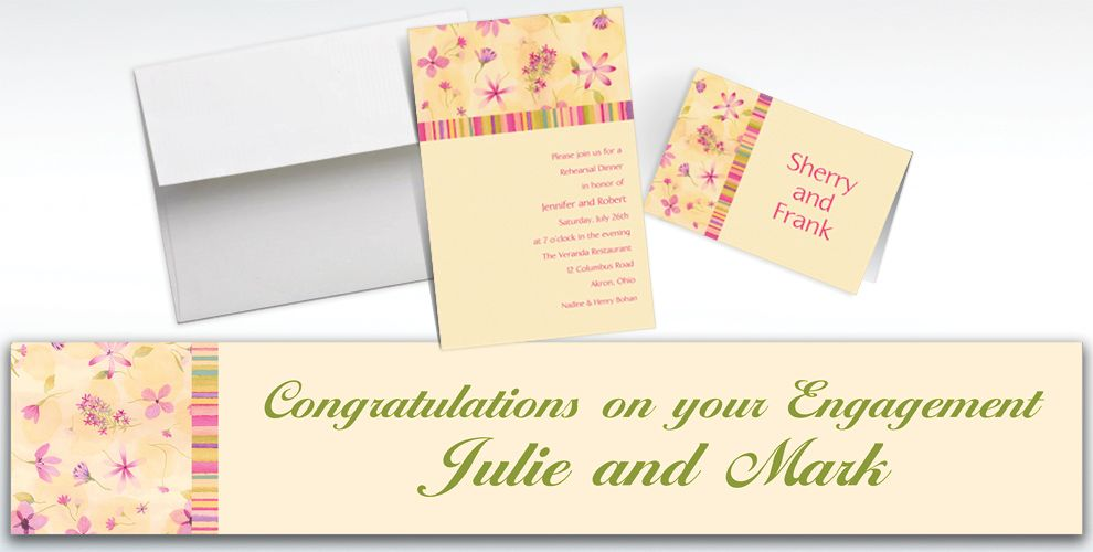 Custom Watercolor Garden Invitations and Thank You Notes