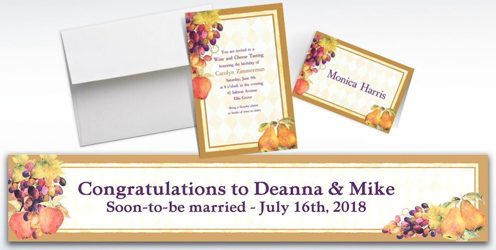 Custom Sonoma Invitations and Thank You Notes