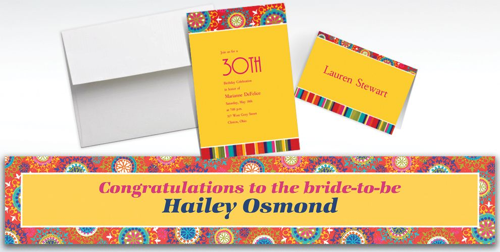 Custom Del Sol Motifs Invitations and Thank You Notes