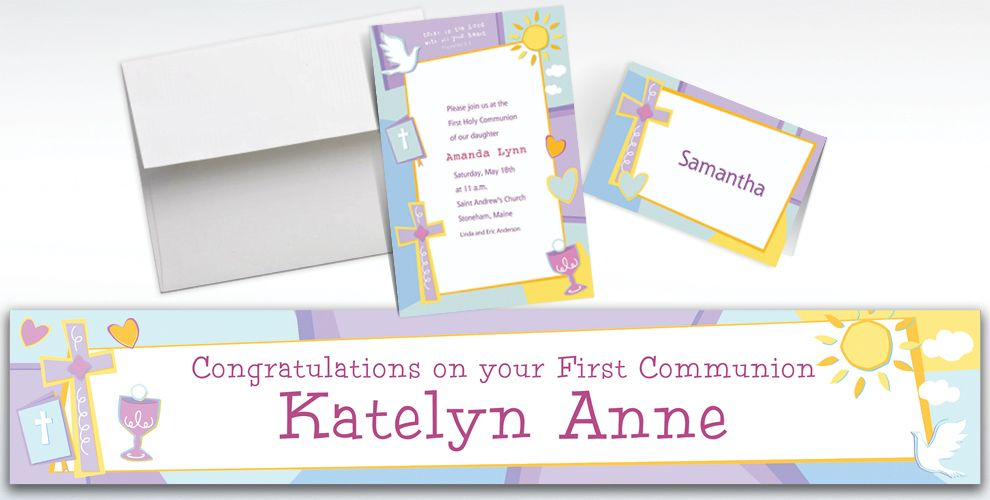 Custom Communion Celebration Invitations and Thank You Notes