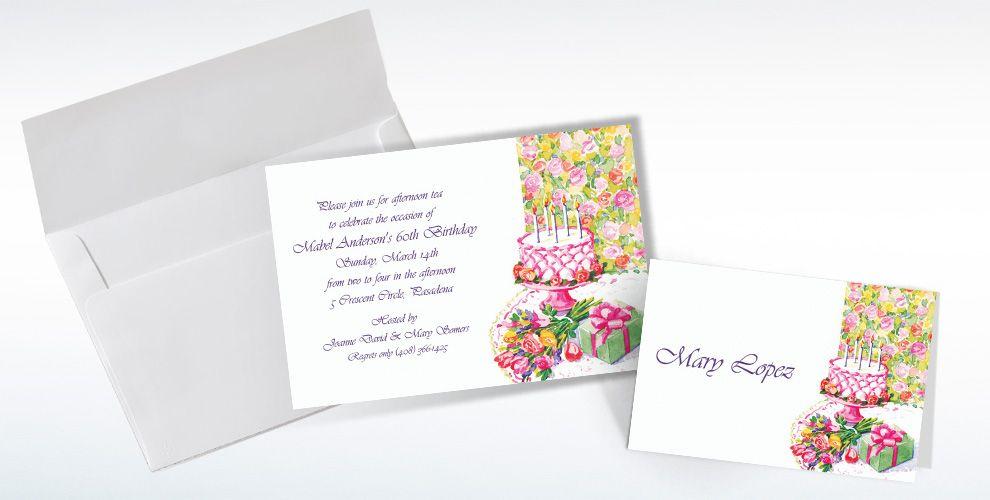 Custom Birthday Still Life Invitations and Thank You Notes