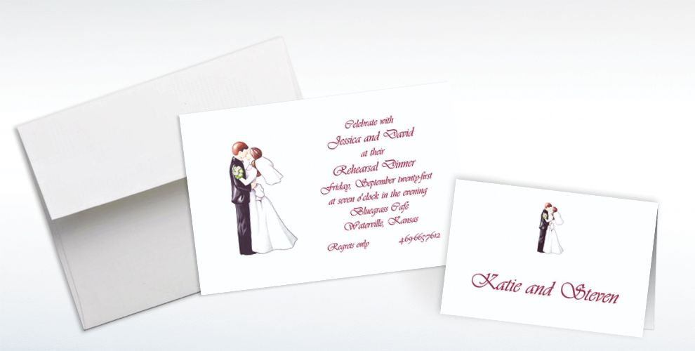 Custom Retro Wedding Couple Wedding Invitations & Thank You Notes ...