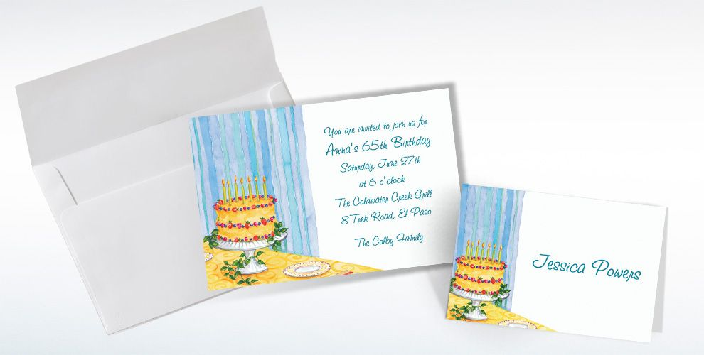 Custom Still Life Birthday Invitations and Thank You Notes