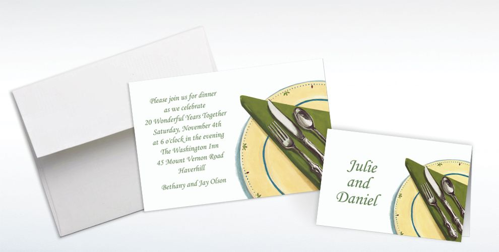 Custom Place Setting Invitations and Thank You Notes
