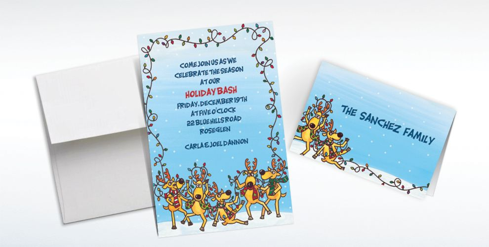 Custom The Reindeer Decorating Fiasco Invitations and Thank You Notes