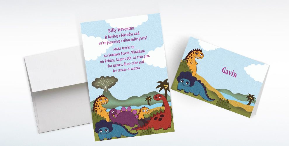 Custom Dinosaurs Invitations & Thank You Notes | Party City