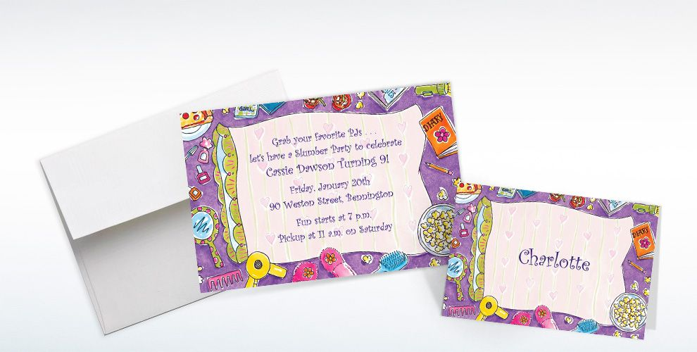 Custom Girls Slumber Party Invitations & Thank You Notes | Party City