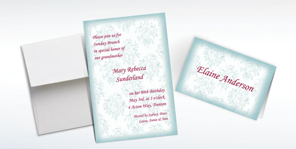 Custom Toile Applique Invitations and Thank You Notes
