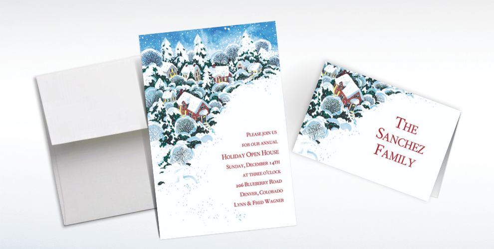 Custom Winter Wonderland Invitations and Thank You Notes
