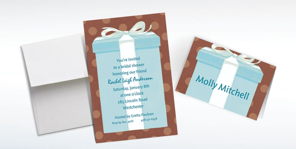 Custom The Special Gift Box Bridal Shower Invitations and Thank You Notes