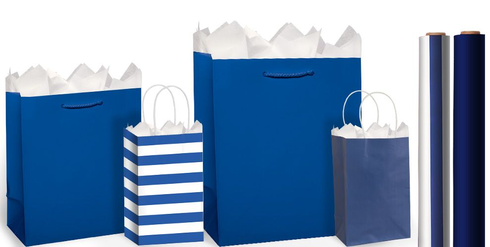 Royal Blue Gift Bags and Wrap