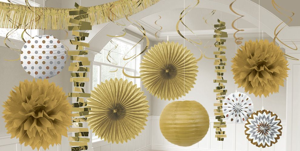 Gold Decorations - Gold Balloons, Banners & Confetti | Party City