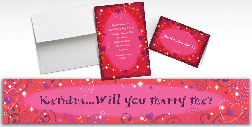 Custom Love Crazy Valentine's Day Invitations and Thank You Notes