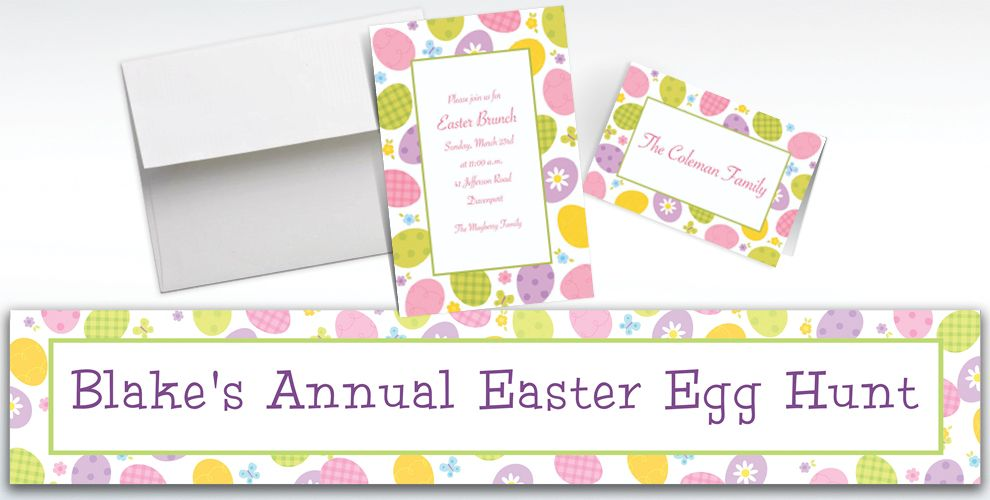 Custom Eggstravaganza Invitations and Thank You Notes