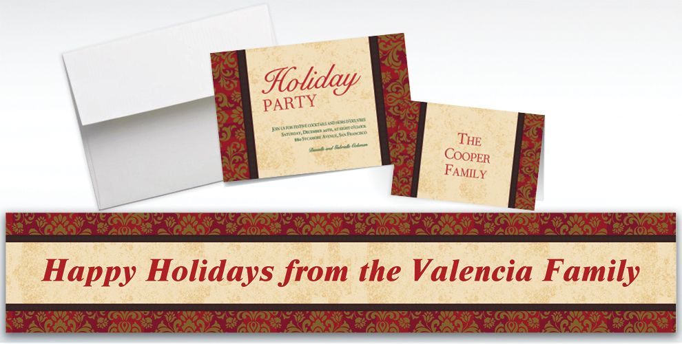 Custom Holiday Style Invitations and Thank You Notes
