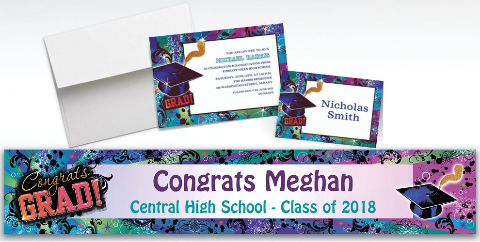 Custom Grad Reflections Invitations and Thank You Notes