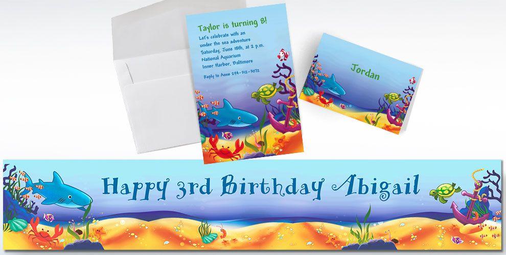 Custom Deep Sea Fun Invitations & Thank You Notes