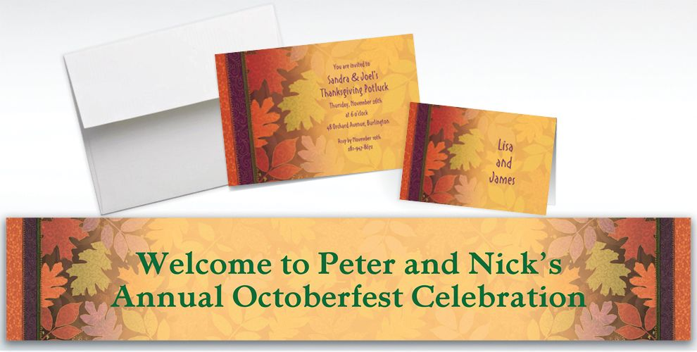 Custom Fall Forward Invitations and Thank You Notes