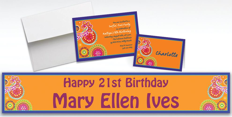 Custom Cool Splash Invitations and Thank You Notes