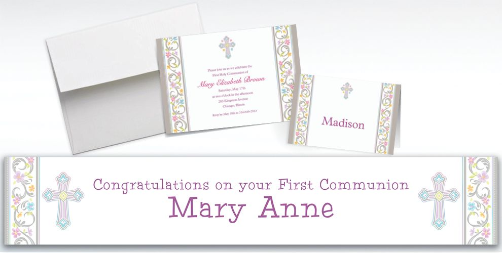 Custom Blessed Day Invitations and Thank You Notes