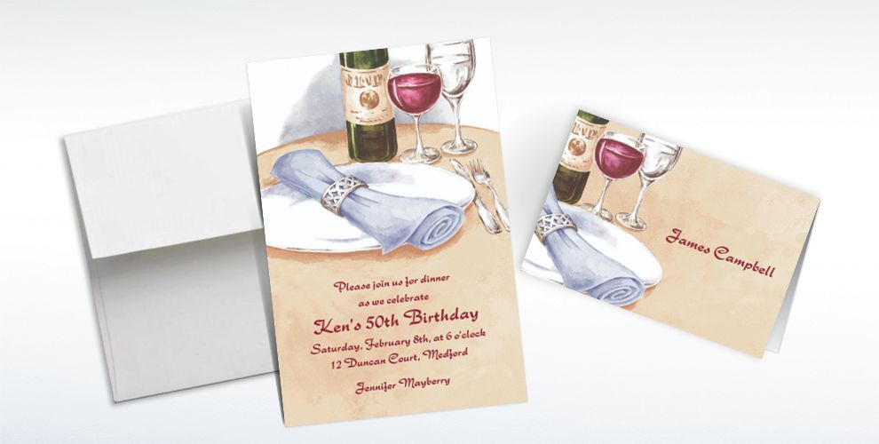 Custom Place Setting Portrait Invitations and Thank You Notes