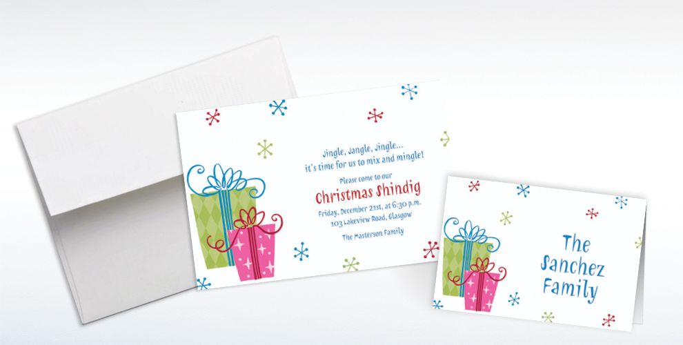 Custom Fancy Christmas Gifts Invitations and Thank You Notes