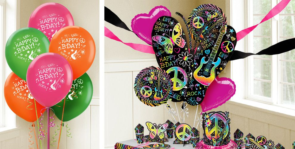 Neon Doodle Balloons