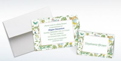 Custom Fairytale Toile Baby Shower Invitations And Thank You Notes