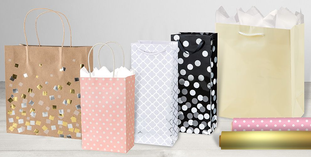 Wedding gift bags gift wrap party city wedding gift bags and wrap negle