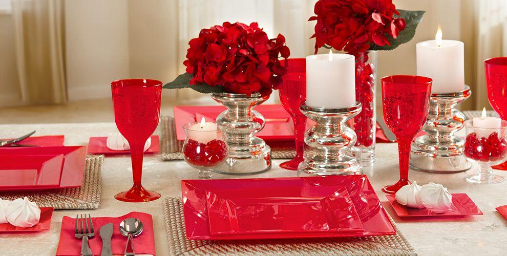 Red Premium Tableware