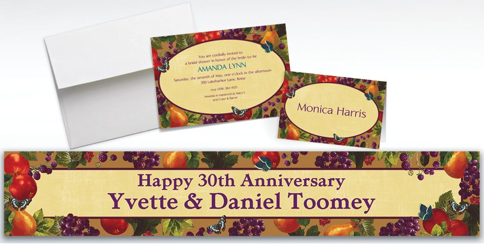 Custom Country Living Invitations and Thank You Notes