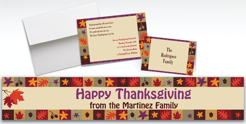 Custom Classical Fall Invitations and Thank You Notes