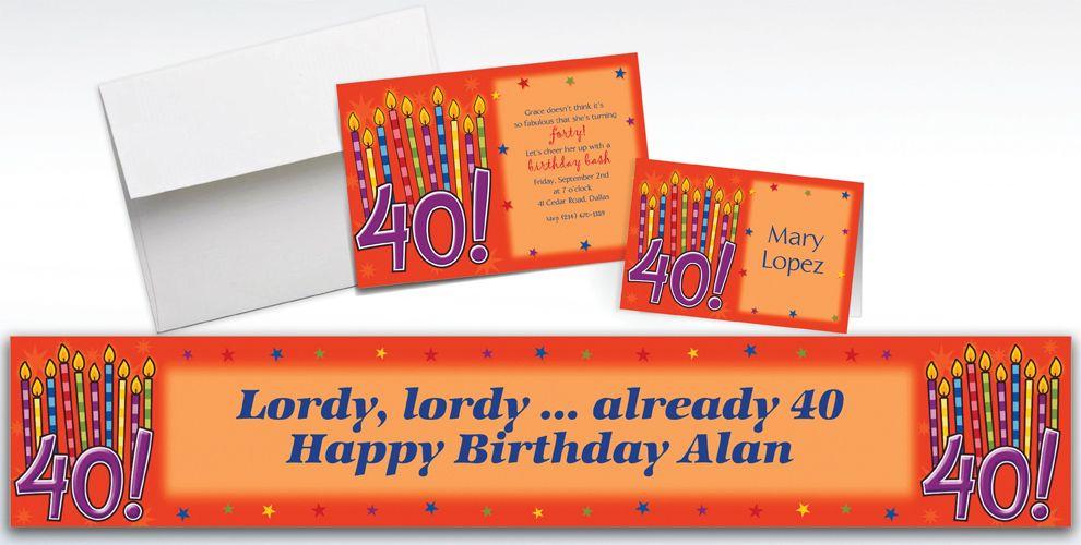 Custom Great Birthday 40th Invitations