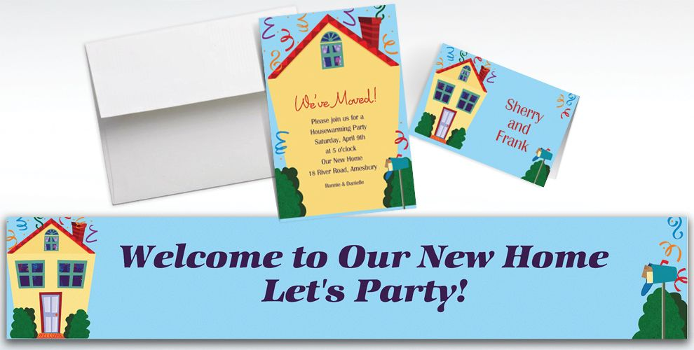 Custom Housewarming Invitations & Thank You Notes | Party City