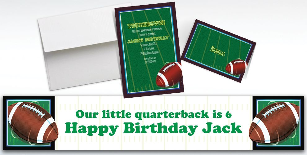 Custom The Big Game Invitations and Thank You Notes